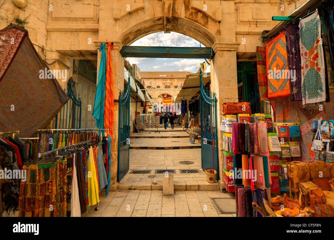 Arab marketplace in the old city of Jerusalem, Israel - Stock Image