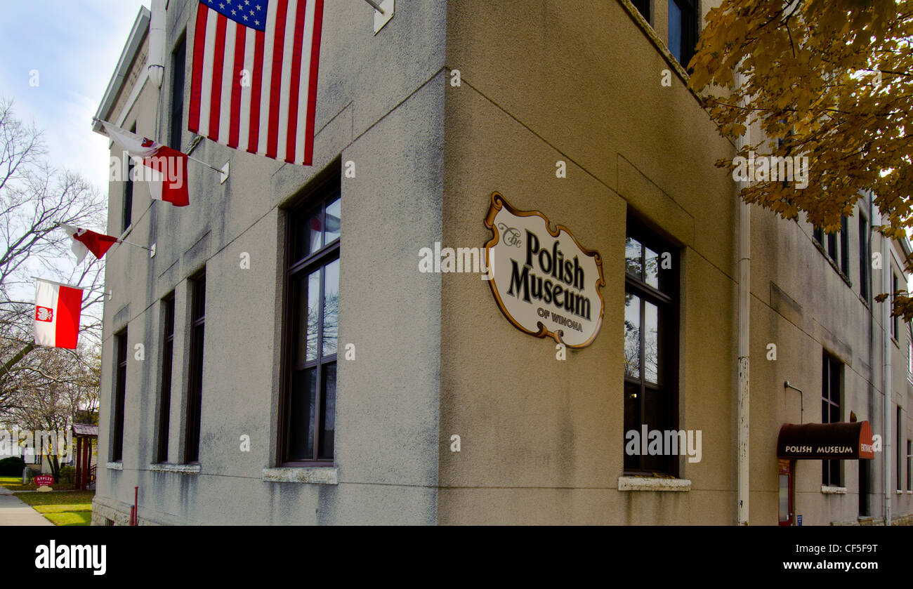 The Polish Museum in Winona, Minnesota has exhibits telling the story of Polish immigrant history. - Stock Image