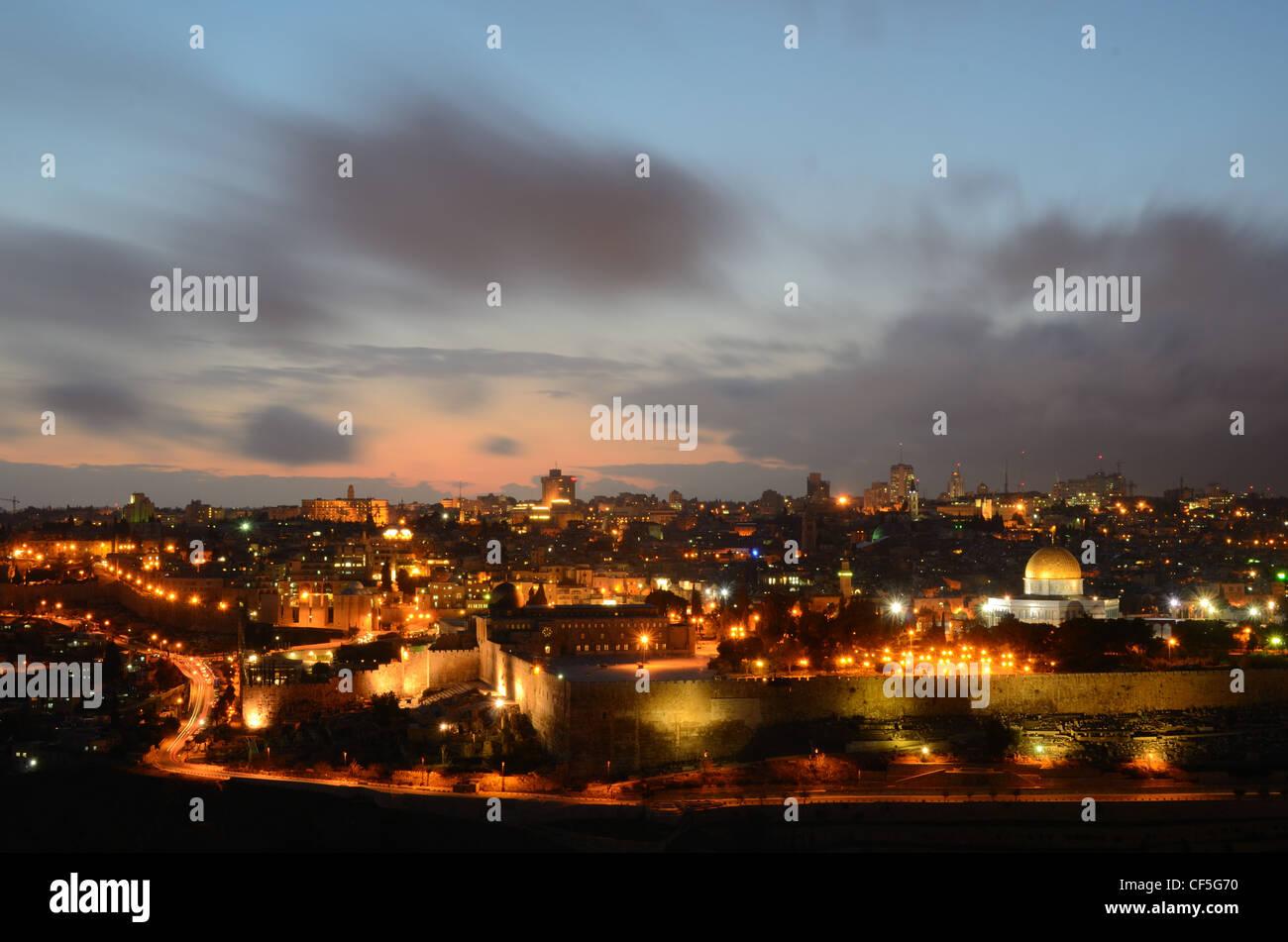 Skyline of the Old City of Jerusalem, Israel. - Stock Image