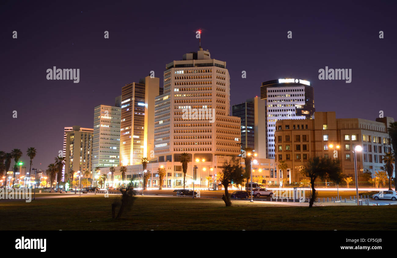 Skyline of Tel Aviv, Israel. - Stock Image