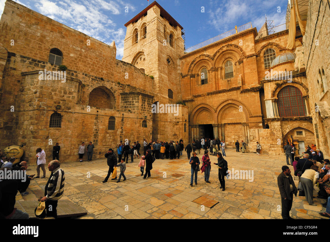 Church of the holy Sepulchre in Jerusalem, Israel - Stock Image