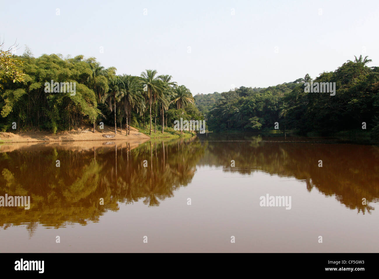 A view of the Lukuya river outside of the capital Kinshasa. Democratic Republic of Congo. - Stock Image