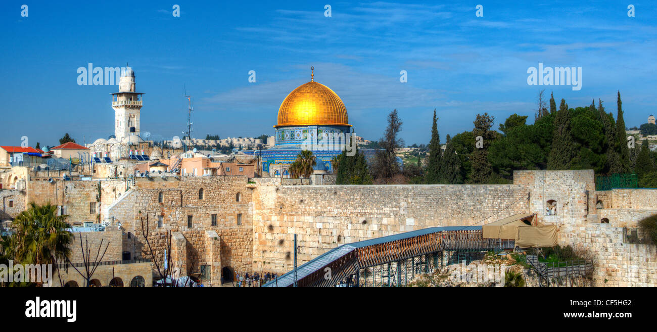 Jerusalem, Israel panorama cityscape of the old city. Stock Photo