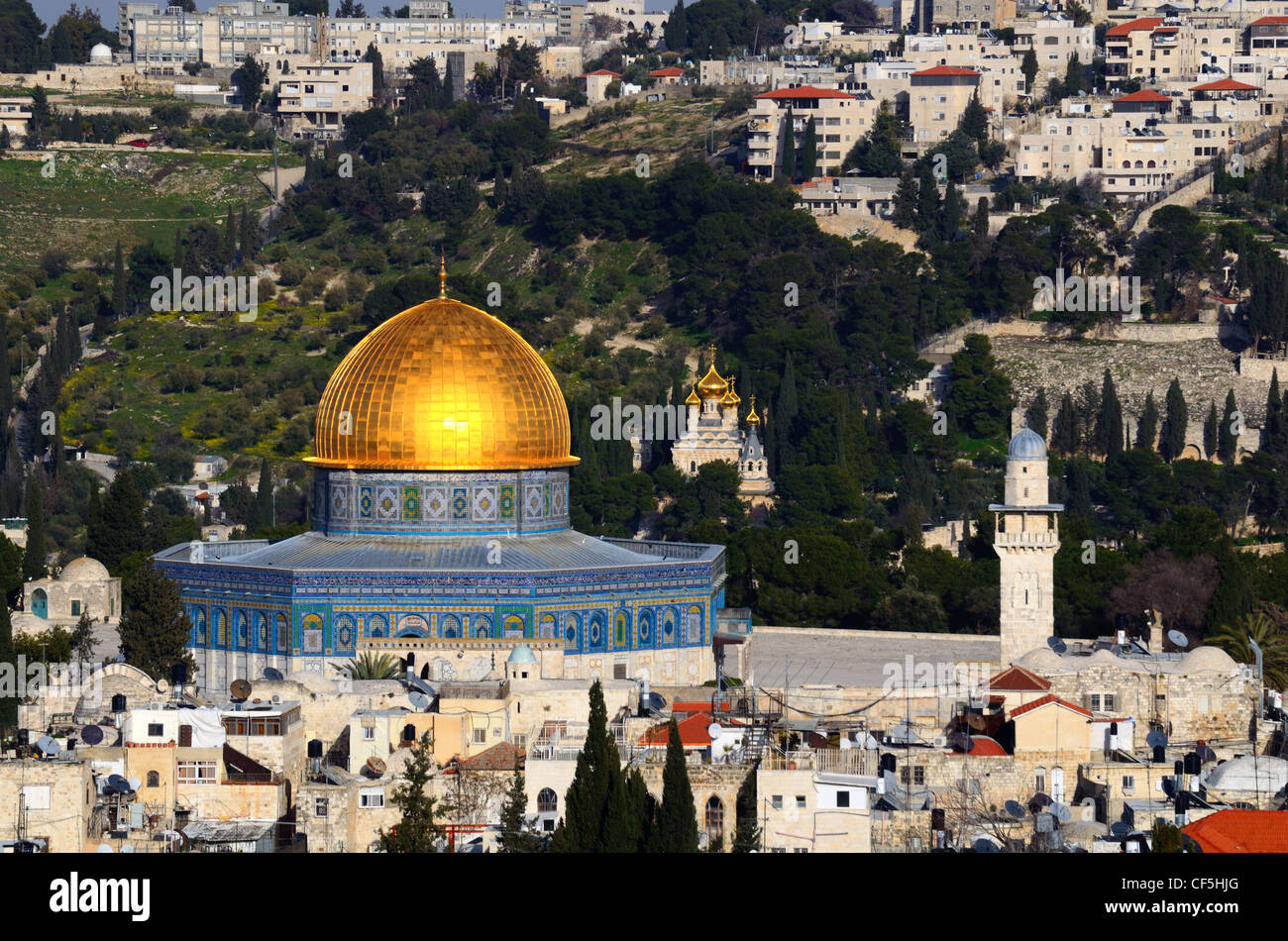 Dome of the Rock on the Temple Mount in Jerusalem, Israel. Stock Photo