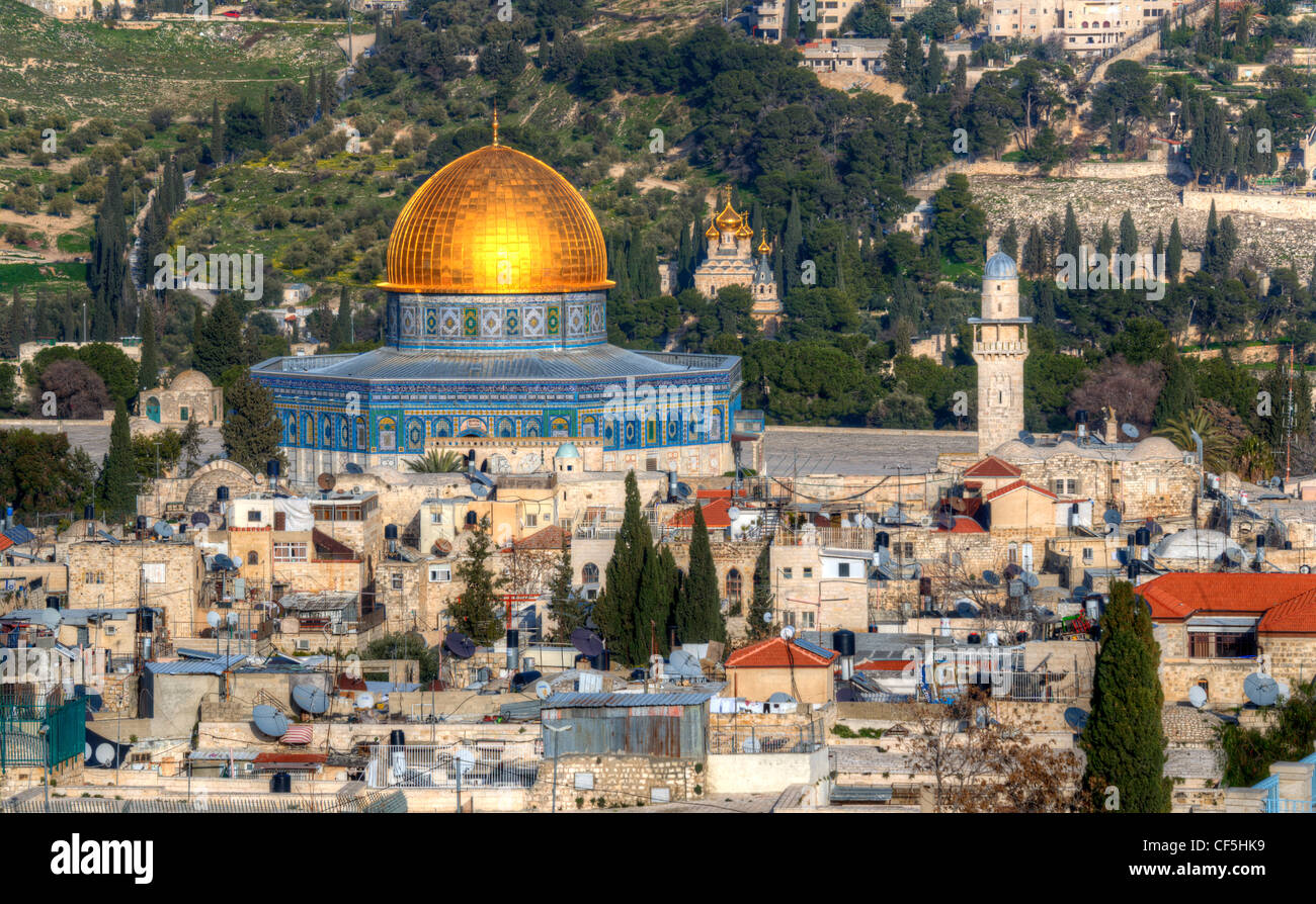 Dome of the Rock on the Temple Mount in Jerusalem, Israel. - Stock Image