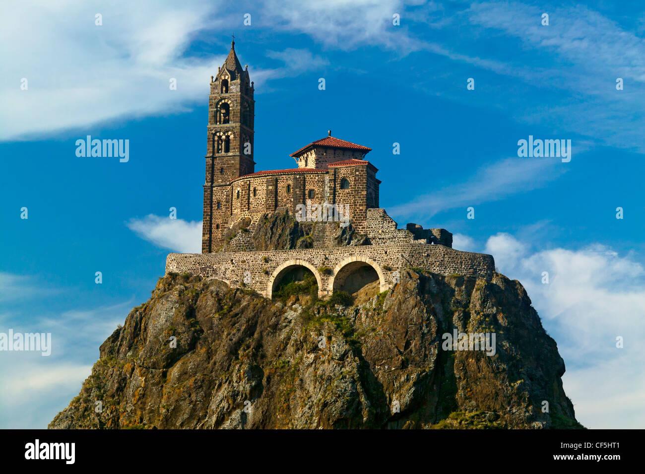 Chapel Saint Michel D'Aiguilhe,Le Puy En Velay, Haute Loire, Auvergne,France - Stock Image