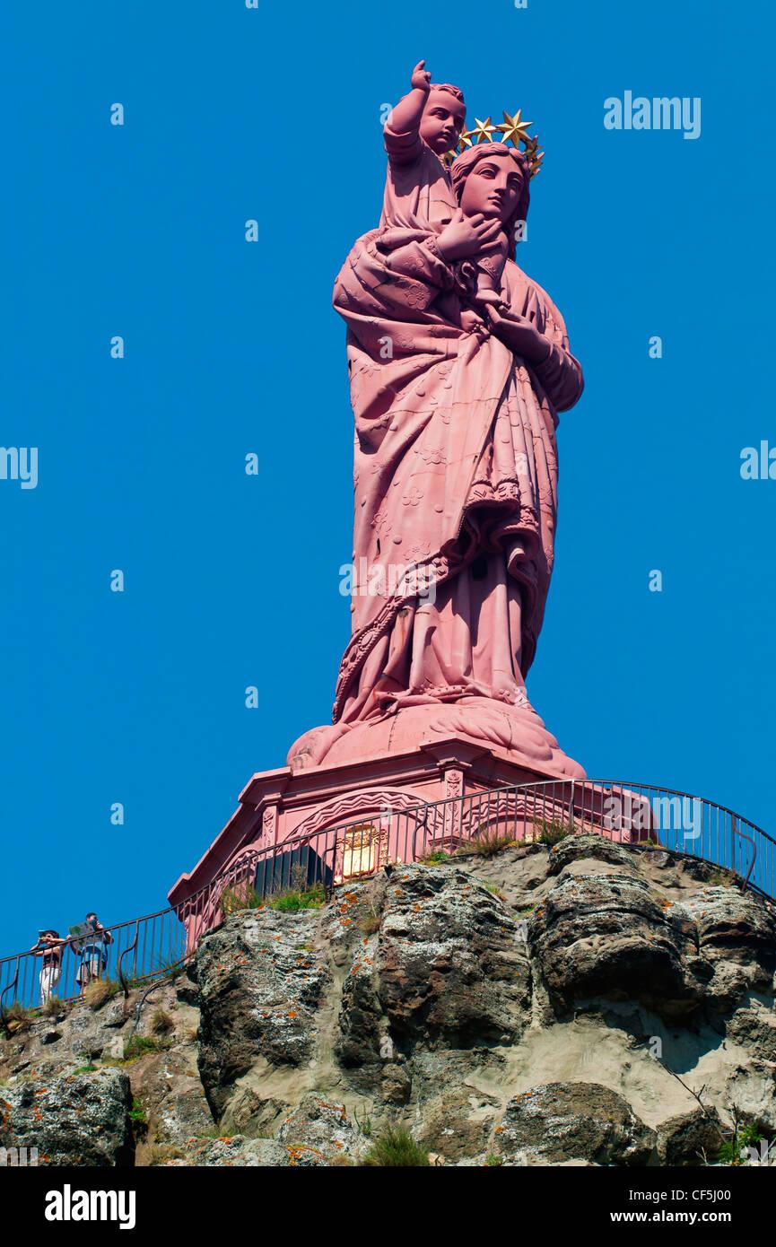 Notre Dame De France,Le Puy En Velay, Haute Loire, Auvergne,France Stock Photo