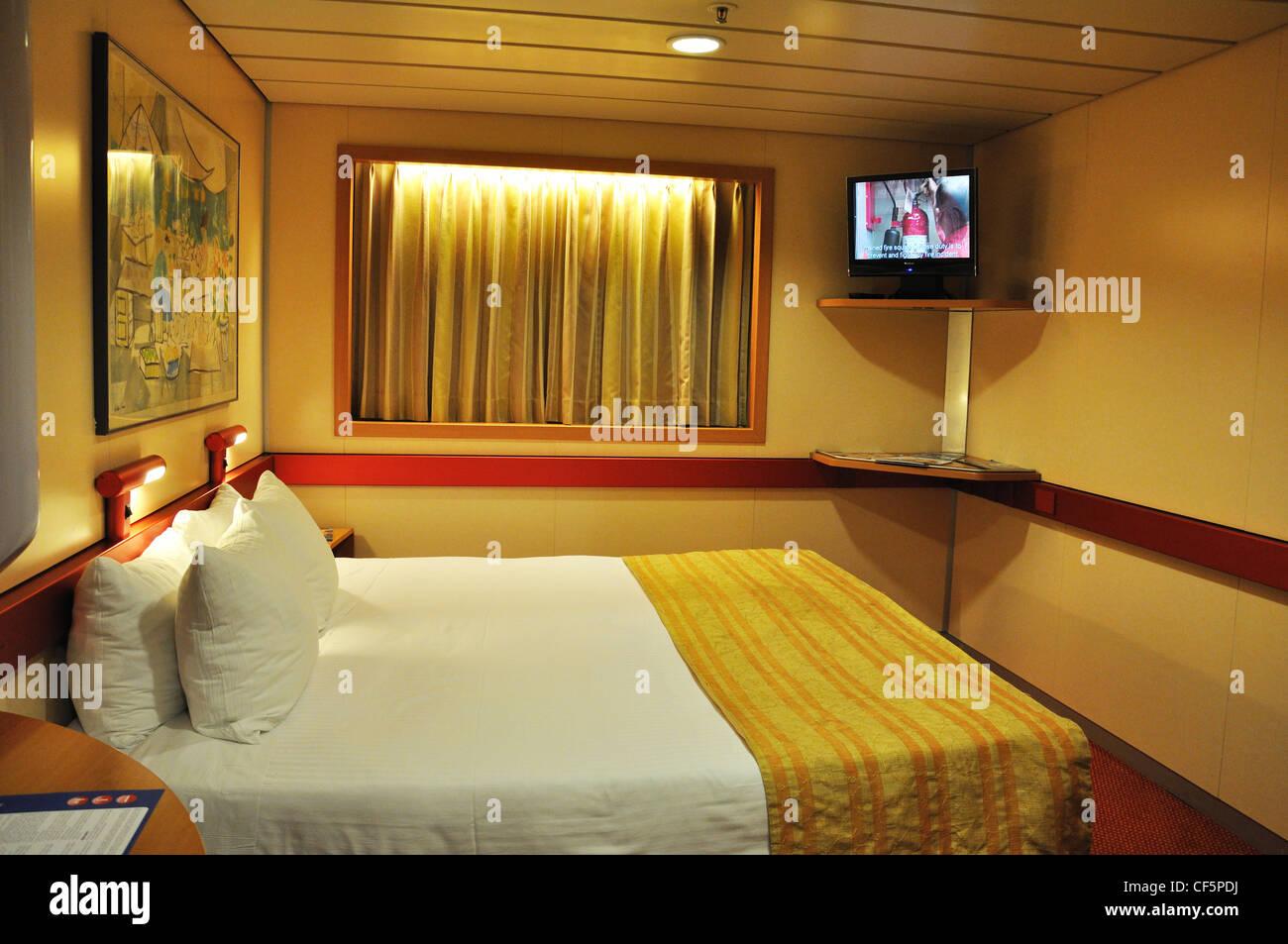 Interior Cabin Fantasy Cruise Ship Carnival Lines Stock Photo