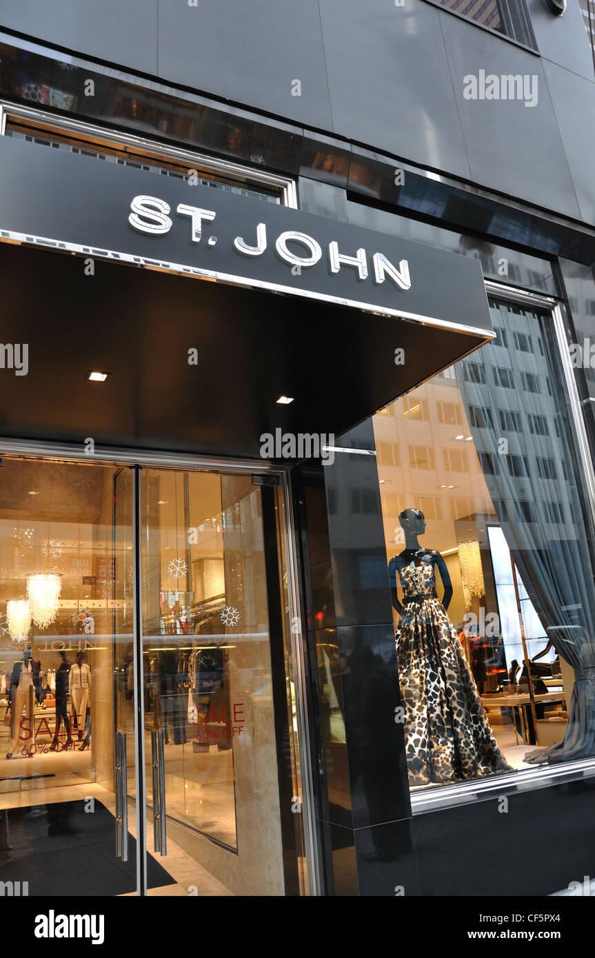 St John Outlet >> St John Store Manhattan New York Usa Stock Photo