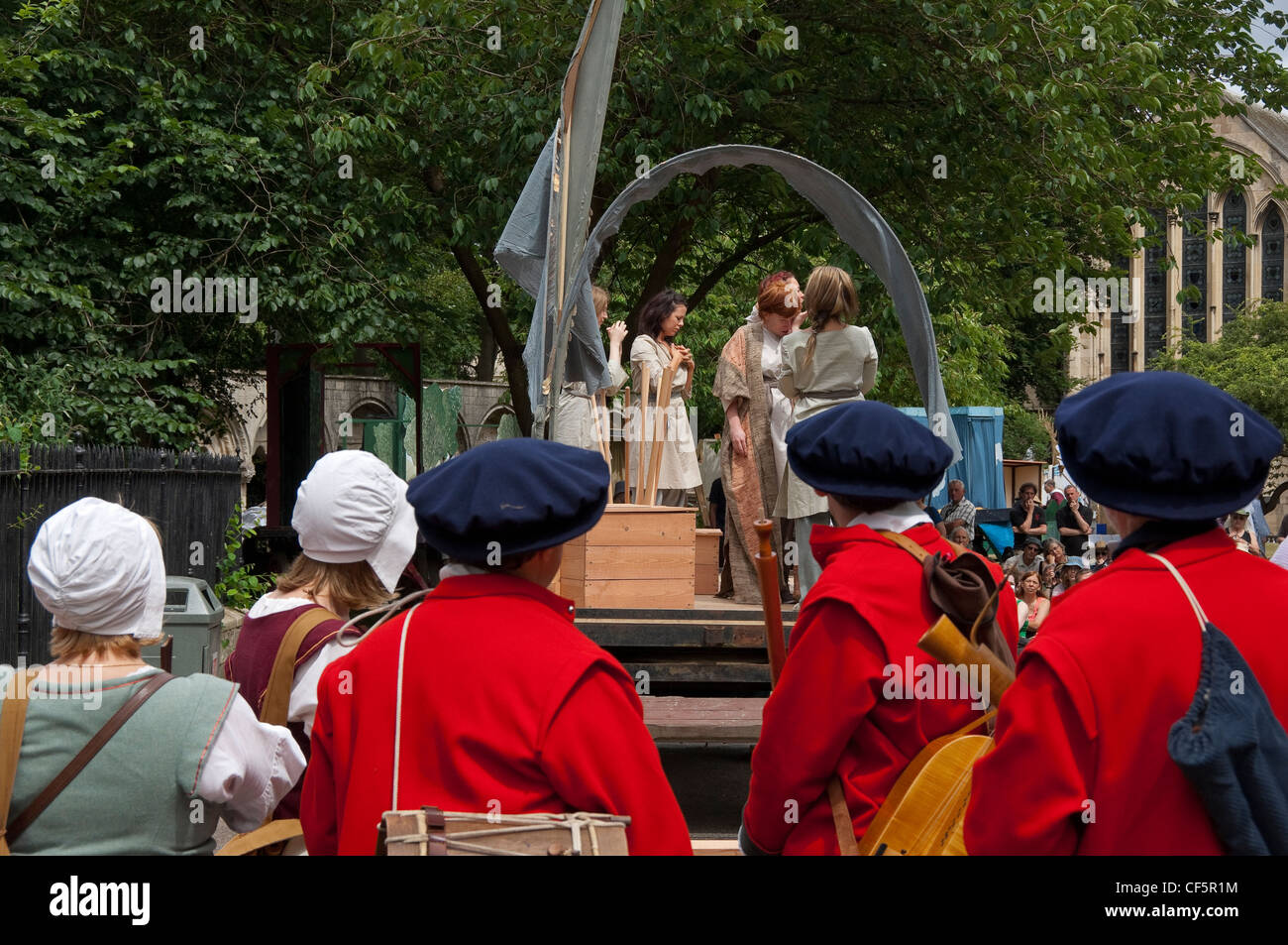 Performance of Abraham and Isaac in the York Mystery Plays in Deans Park. - Stock Image