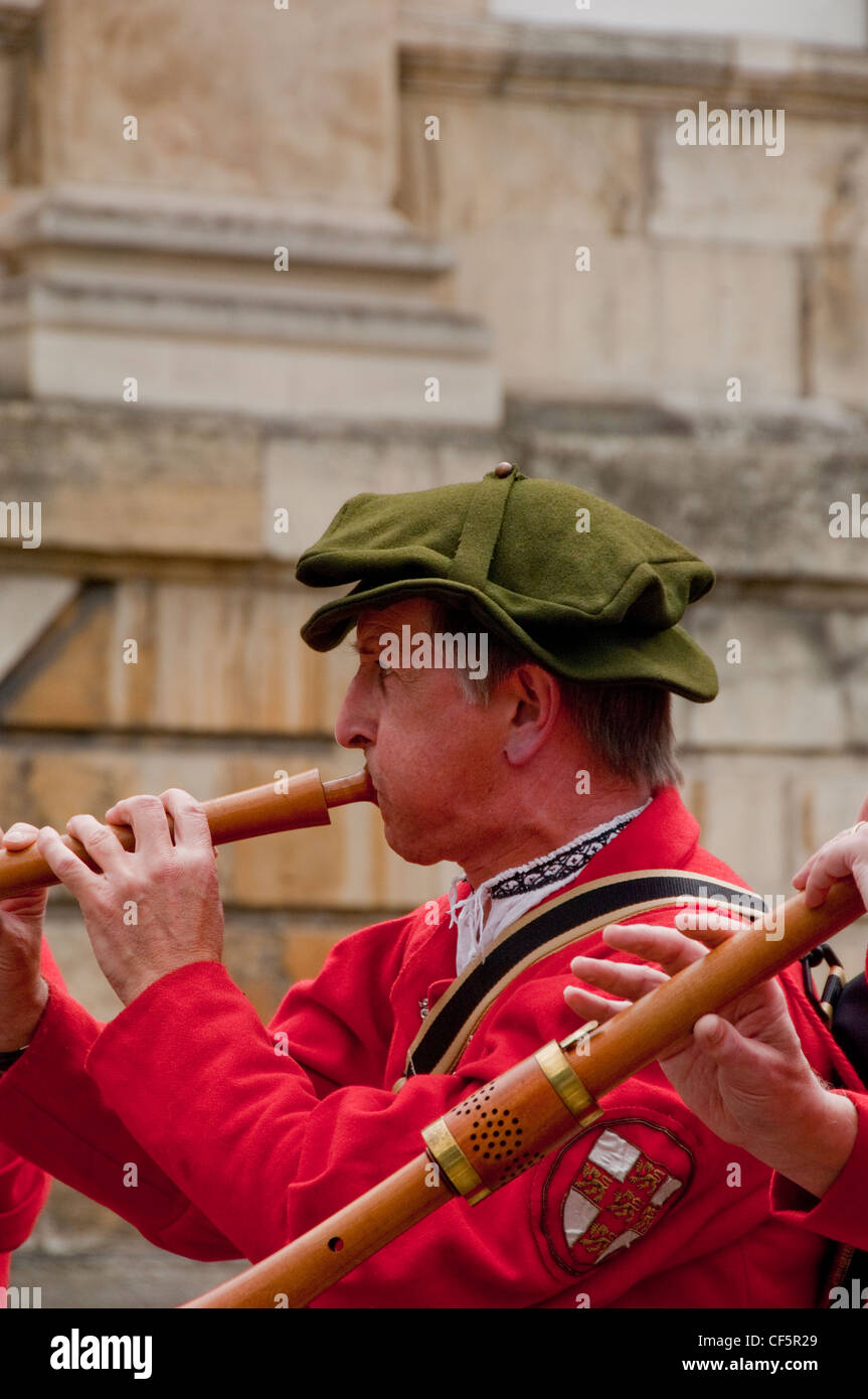 A member of the York Waits performing at the York Mystery Plays, a Middle English cycle of forty-eight mystery plays, - Stock Image