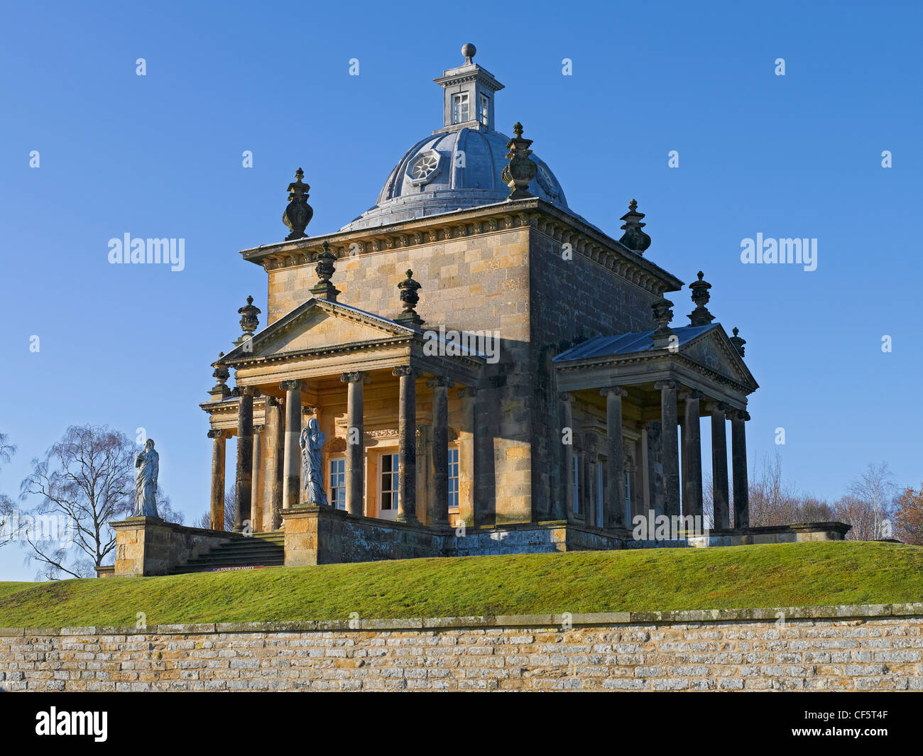 The Temple of the Four Winds, designed by Sir John Vanbrugh, in the gardens of Castle Howard. - Stock Image