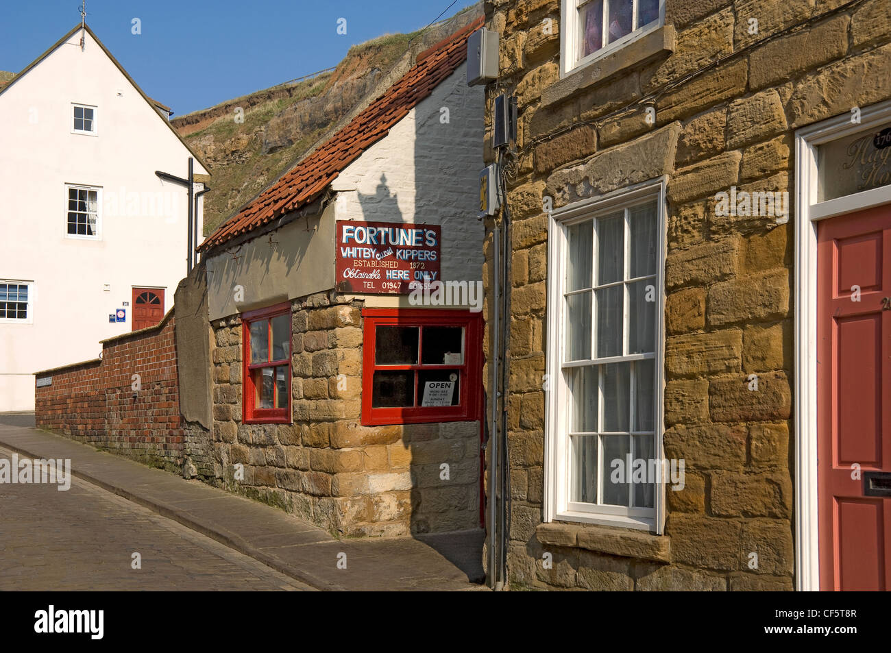Fortune's traditional smoked kipper shop established in 1872. - Stock Image