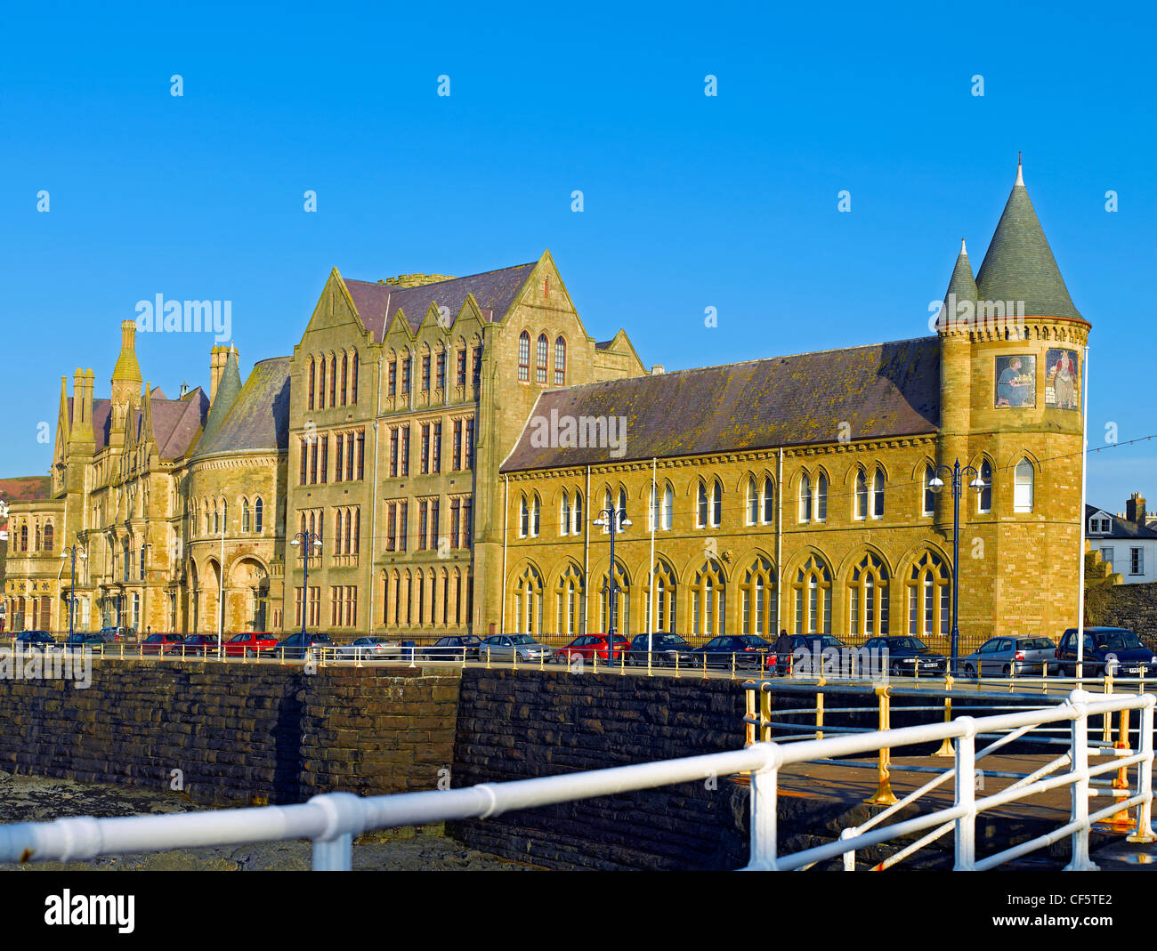 Old College Aberystwyth University, originally opened in 1865 as the Castle Hotel. It is one of finest examples - Stock Image