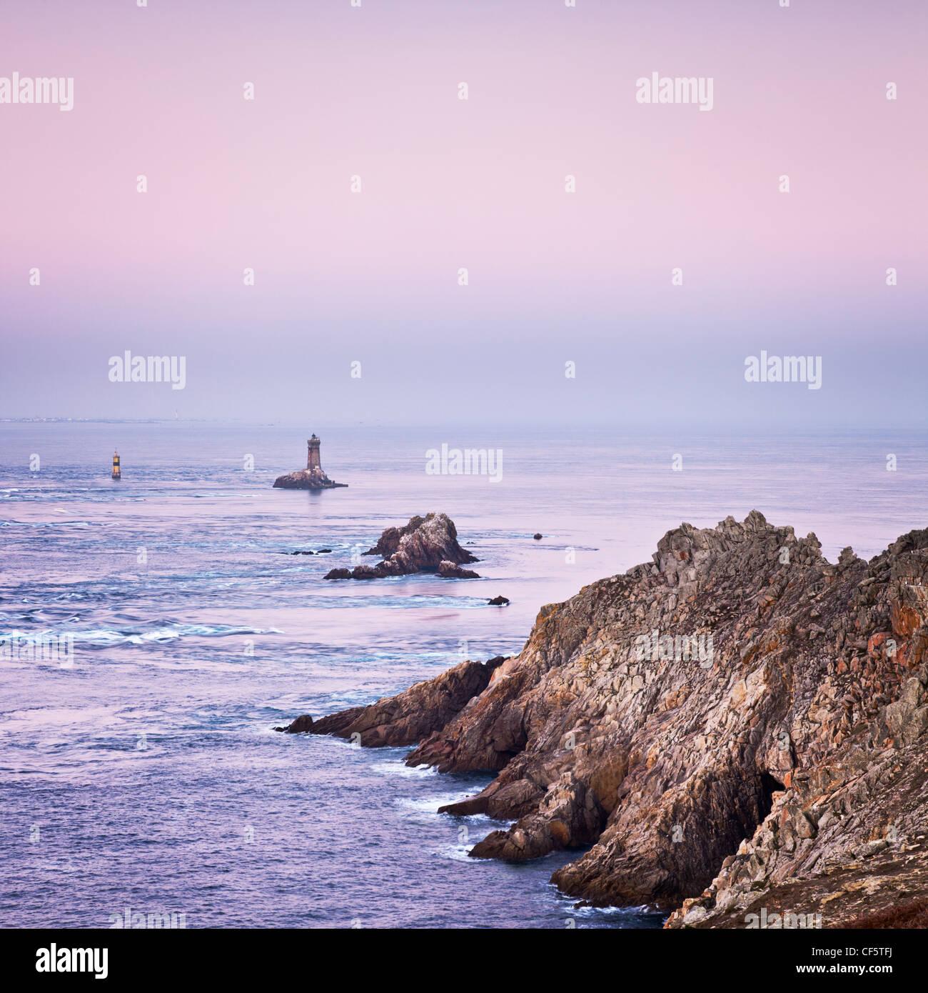 Pointe du Raz Brittany France - Stock Image