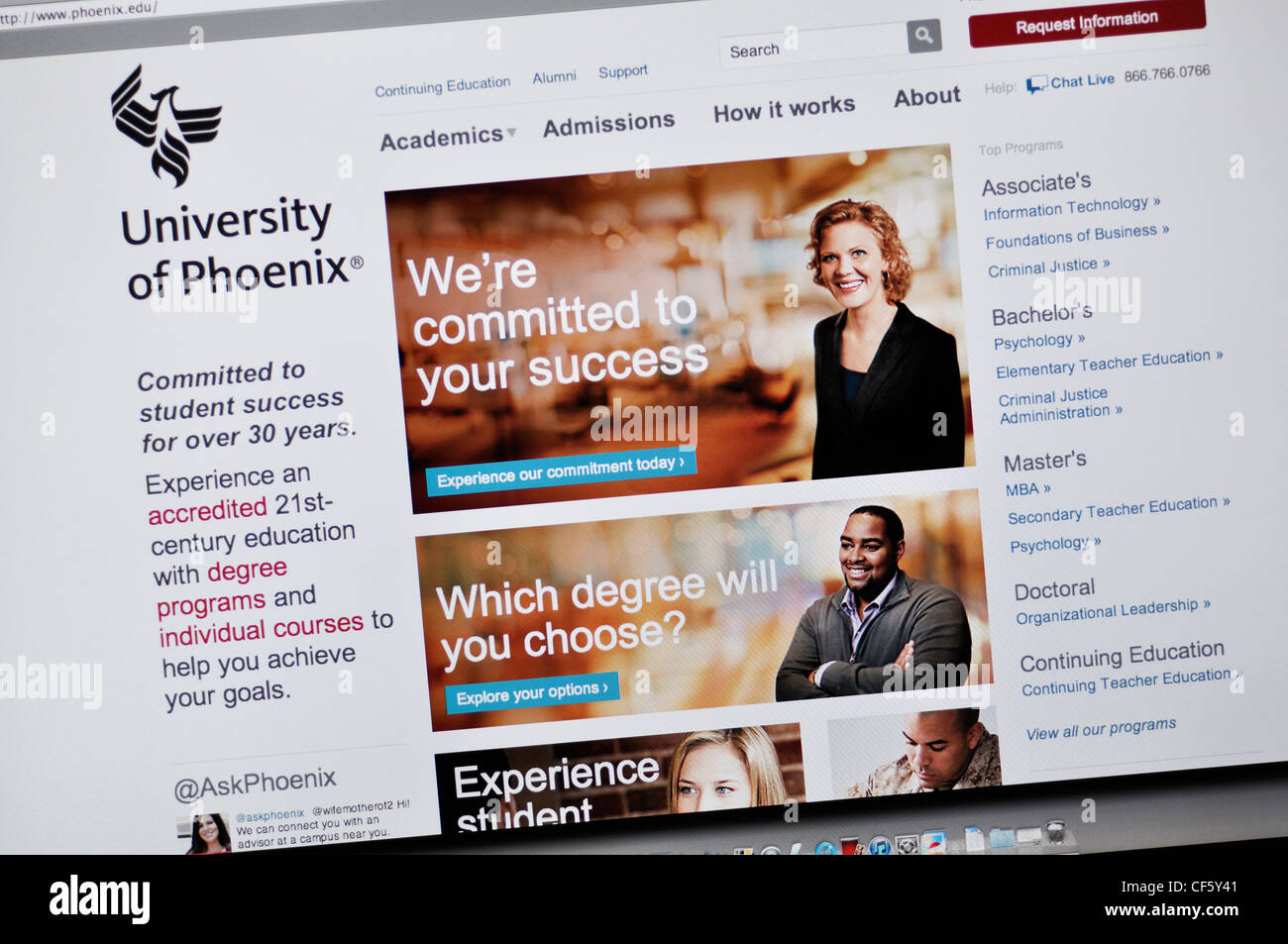 University Phoenix Website Online College High Resolution Stock Photography And Images Alamy