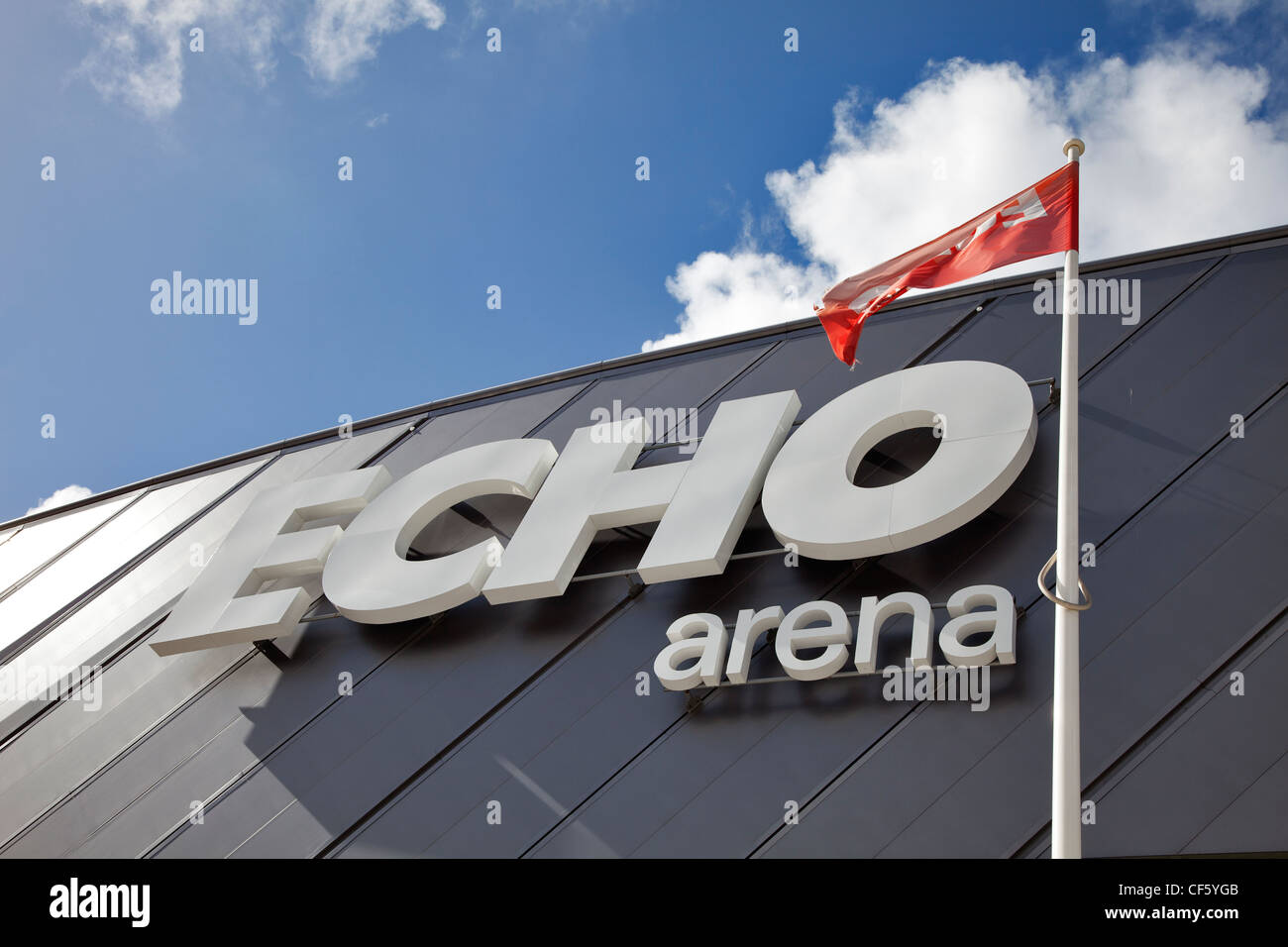 The Echo Arena, an 11,000 capacity venue on the eastern bank of the river Mersey, in the heart of Liverpool city - Stock Image