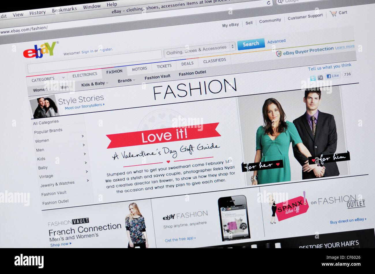 Ebay Online Auction Website Stock Photo Alamy