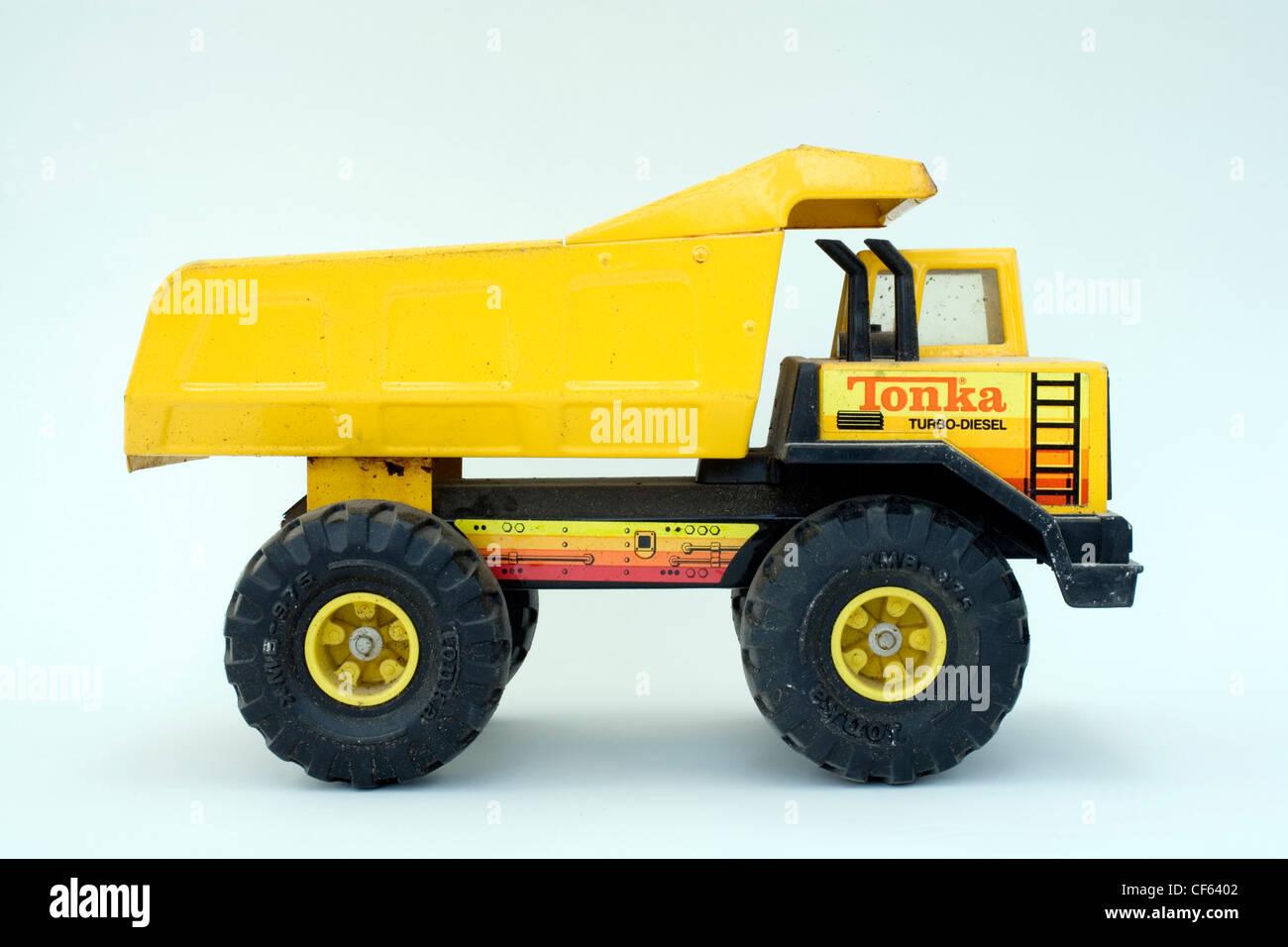 Tonka Toy Trucks >> Yellow Tonka Toy Truck On A White Background Stock Photo