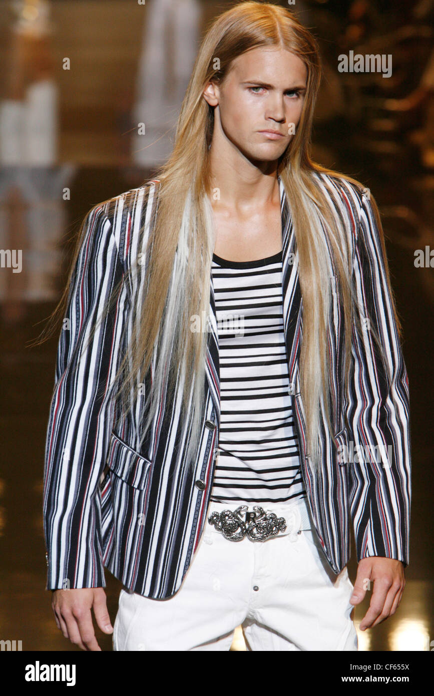 John Richmond Milan Ready To Wear Menswear Spring Summer Blonde Male Stock Photo Alamy