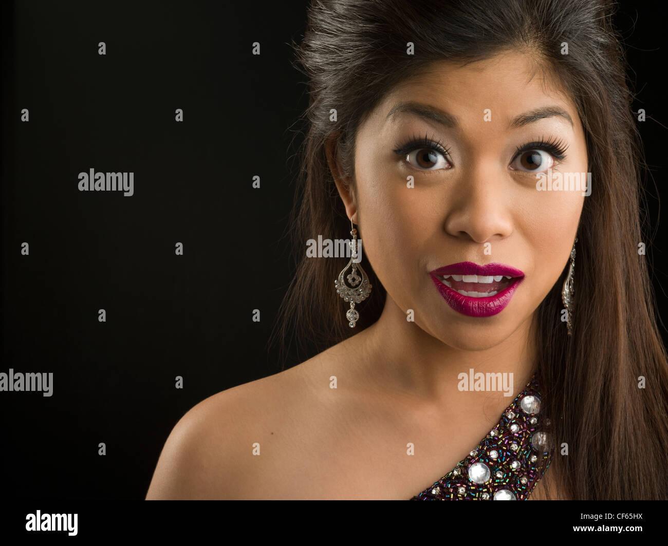 Portrait of Laotian American woman - Stock Image