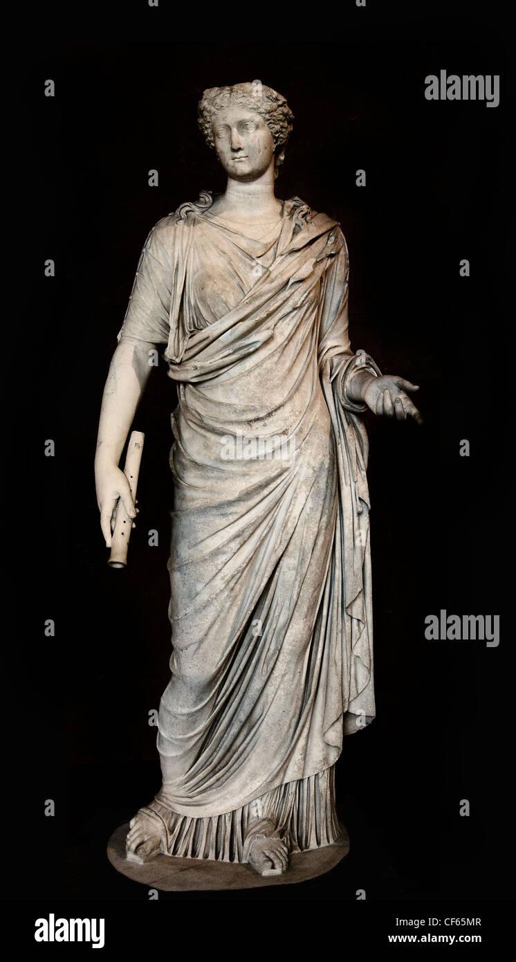 Livie Livia flute Roman 50 AD Louvre - Stock Image