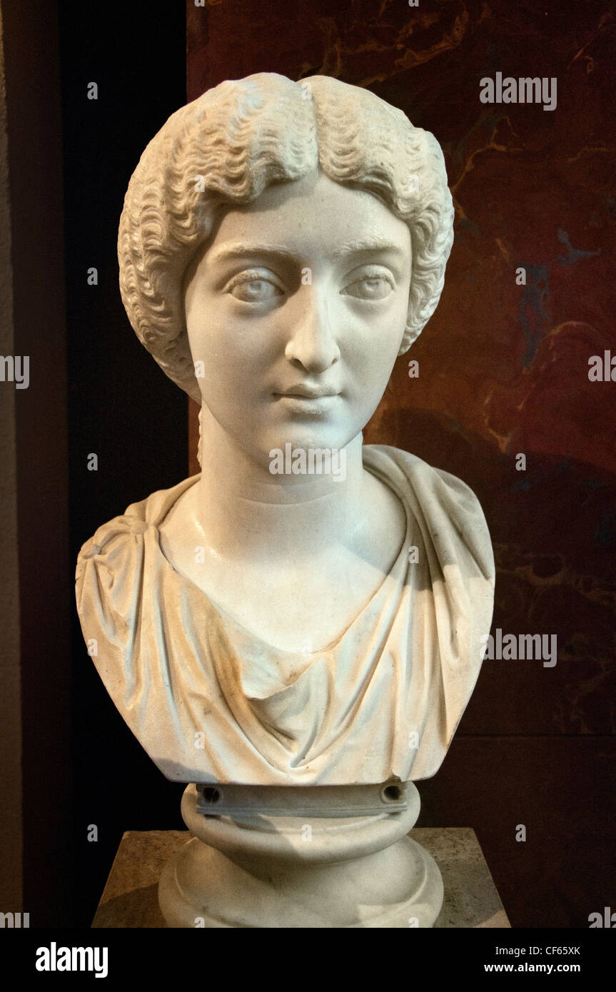 Faustina Minor or Faustina the Younger 125 – 175 AD  daughter of Roman Emperor Antoninus Pius - Stock Image