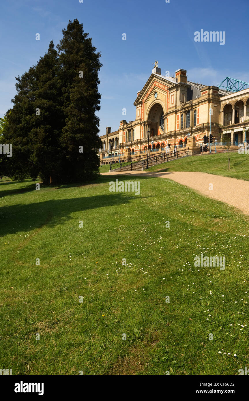 Alexandra Palace in Alexandra Park. The building was opened in 1873 as a public centre of recreation, education - Stock Image