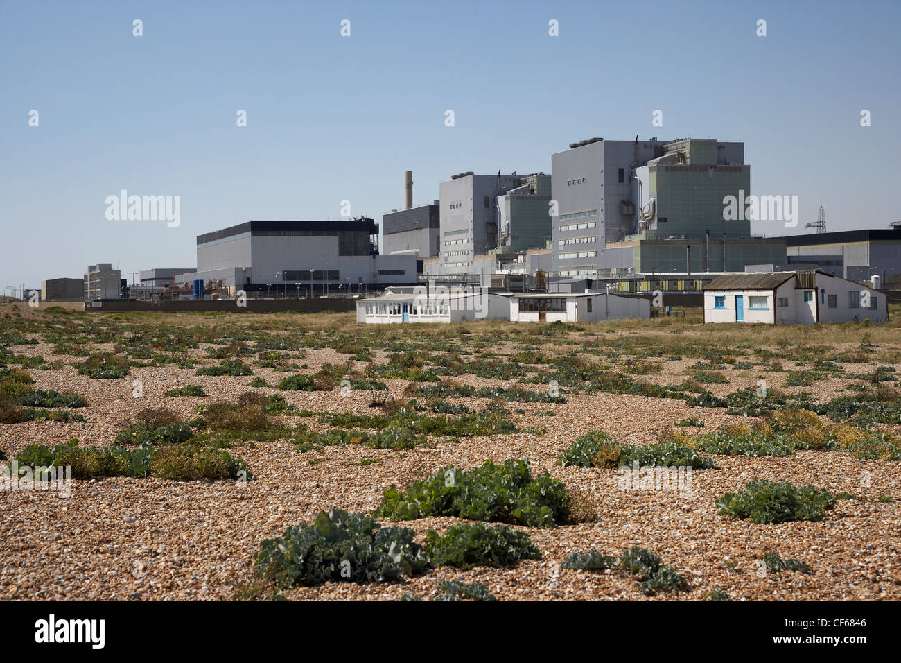 A view up toward Dungeness Power Station from the beach. The New ...