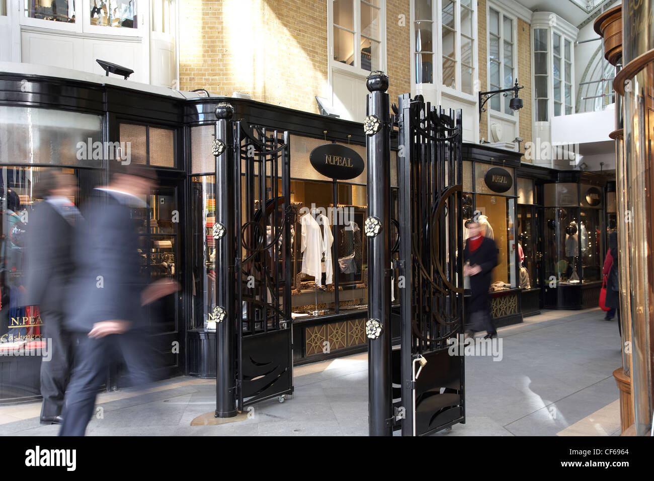 Interior view of the Burlington Arcade in Piccadilly. - Stock Image