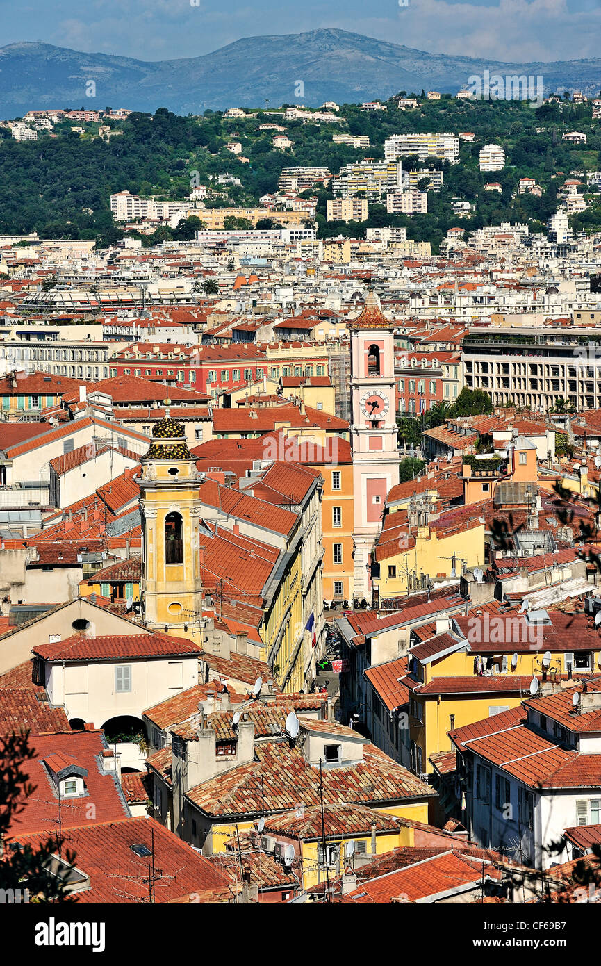 Overview of Nice, Cote d'Azur, France. Stock Photo
