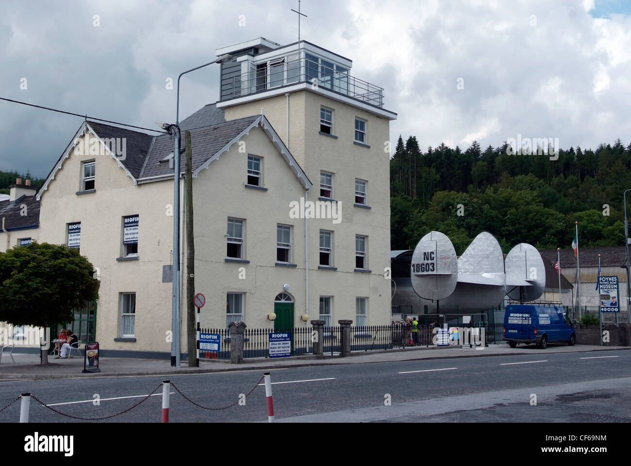 Ireland, Limerick, Foynes Flying Boat Museum. Former control tower of the Shannon flyning boat base. - Stock Image