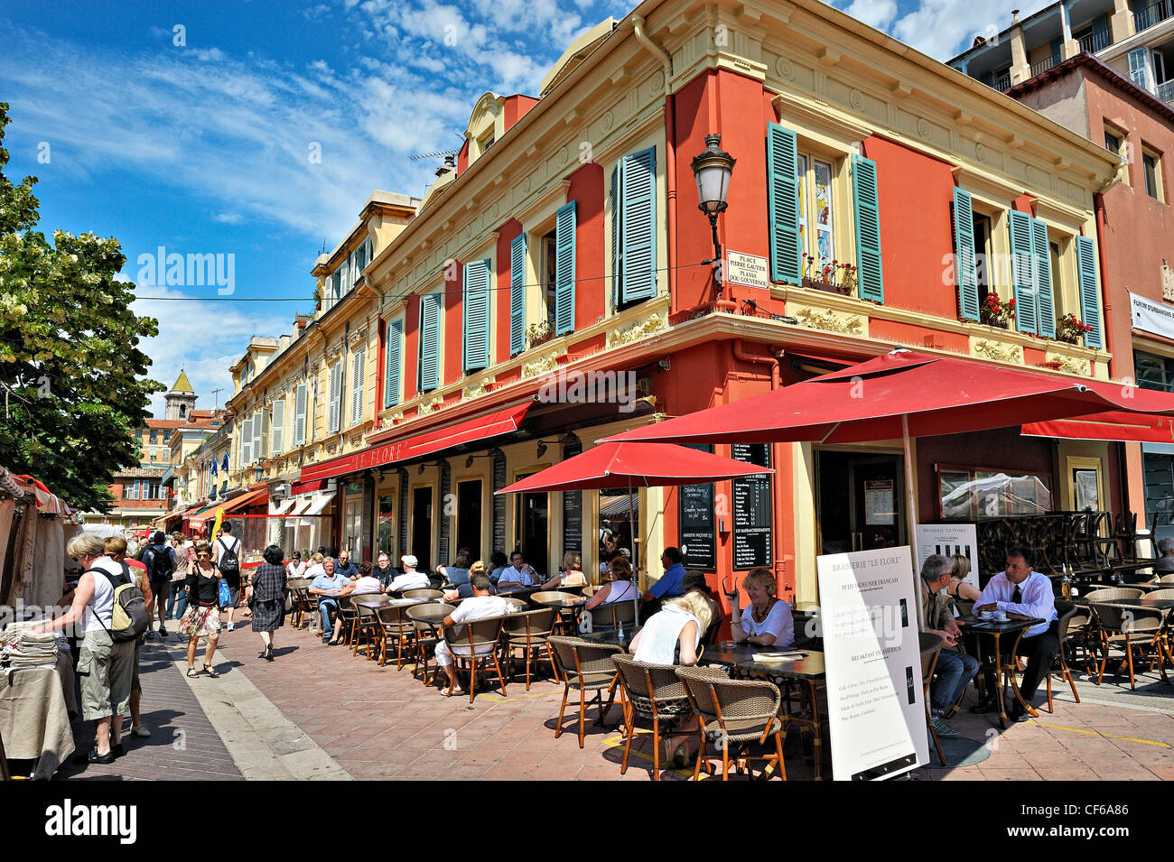 the flower market in the old town nice france stock photo 43780358 alamy. Black Bedroom Furniture Sets. Home Design Ideas