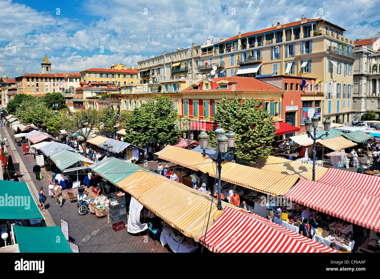 the flower market in the old town nice france stock photo 43780423 alamy. Black Bedroom Furniture Sets. Home Design Ideas