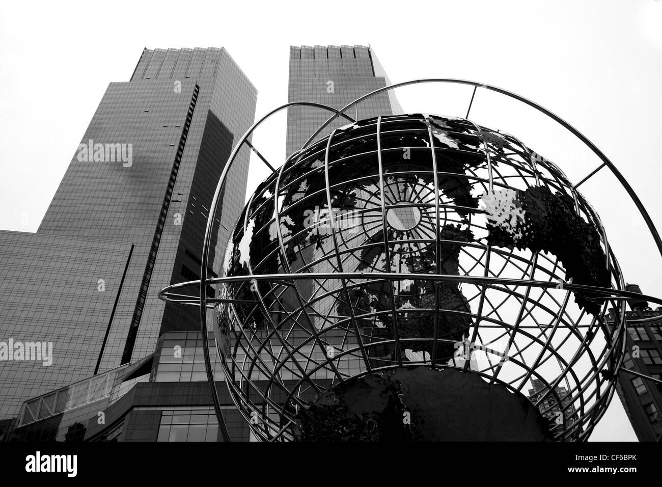 World statue at Columbus Circle in Manhattan in New York city Stock Photo