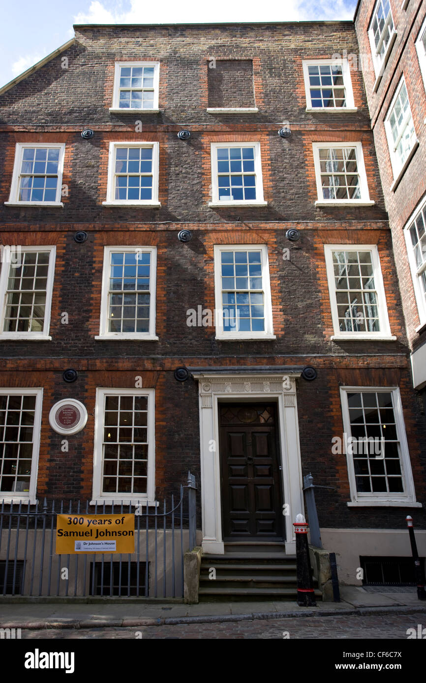An Exterior View Of The Former Home Of The 18th Century English Writer Samuel Johnson In The City Of London