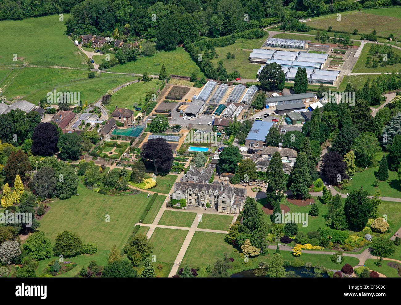 Aerial view of Wakehurst Place, Sussex - Stock Image