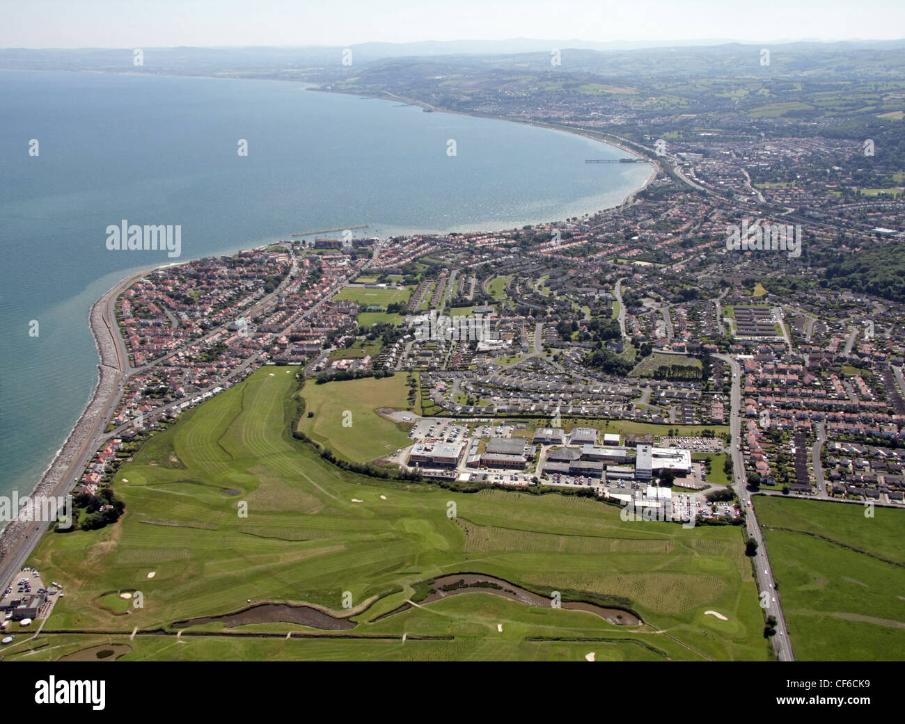Aerial image of Rhos on Sea, Colwyn Bay, North Wales - Stock Image