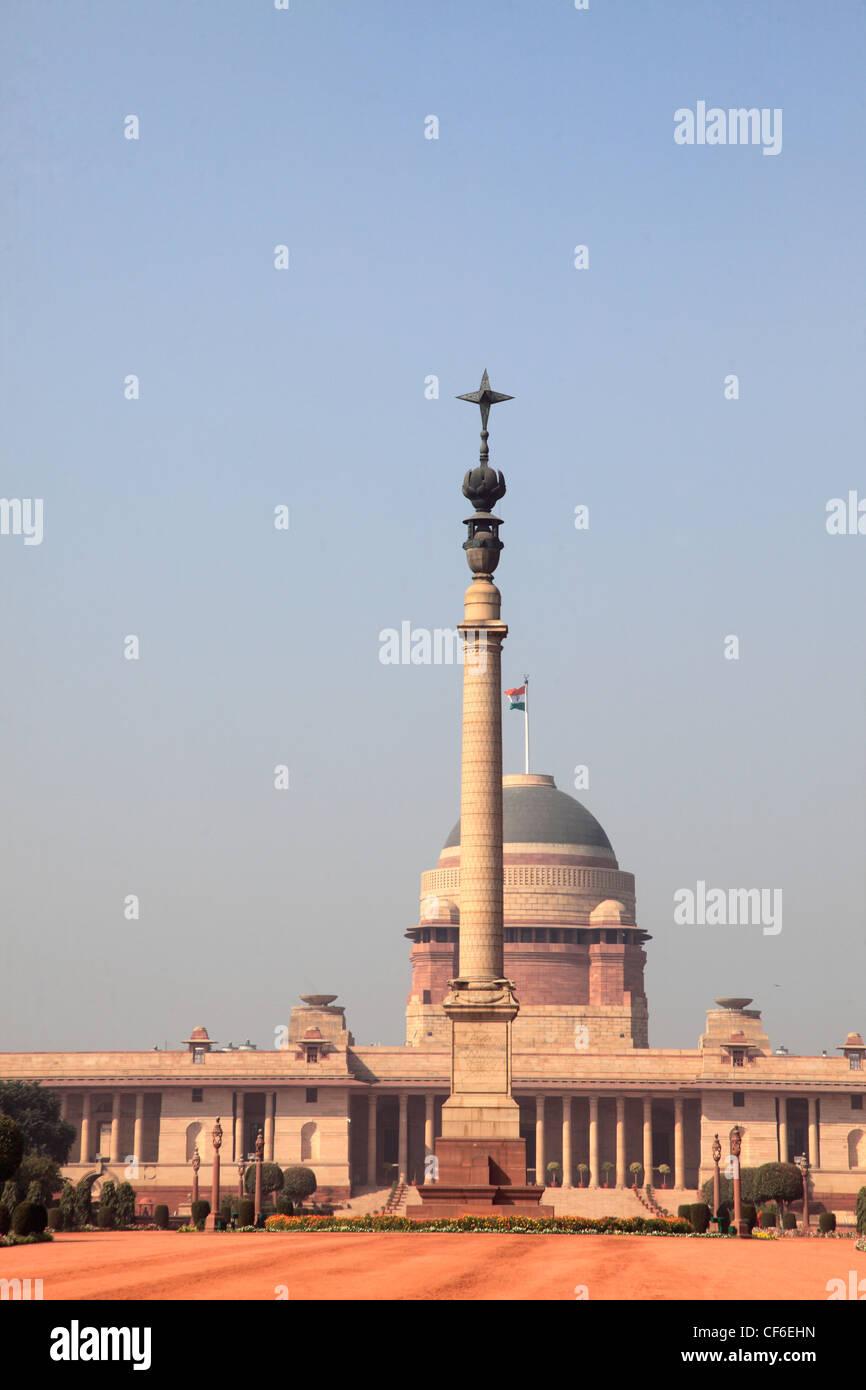 India, Delhi, Rashtrapati Bhavan, President's Residence, - Stock Image