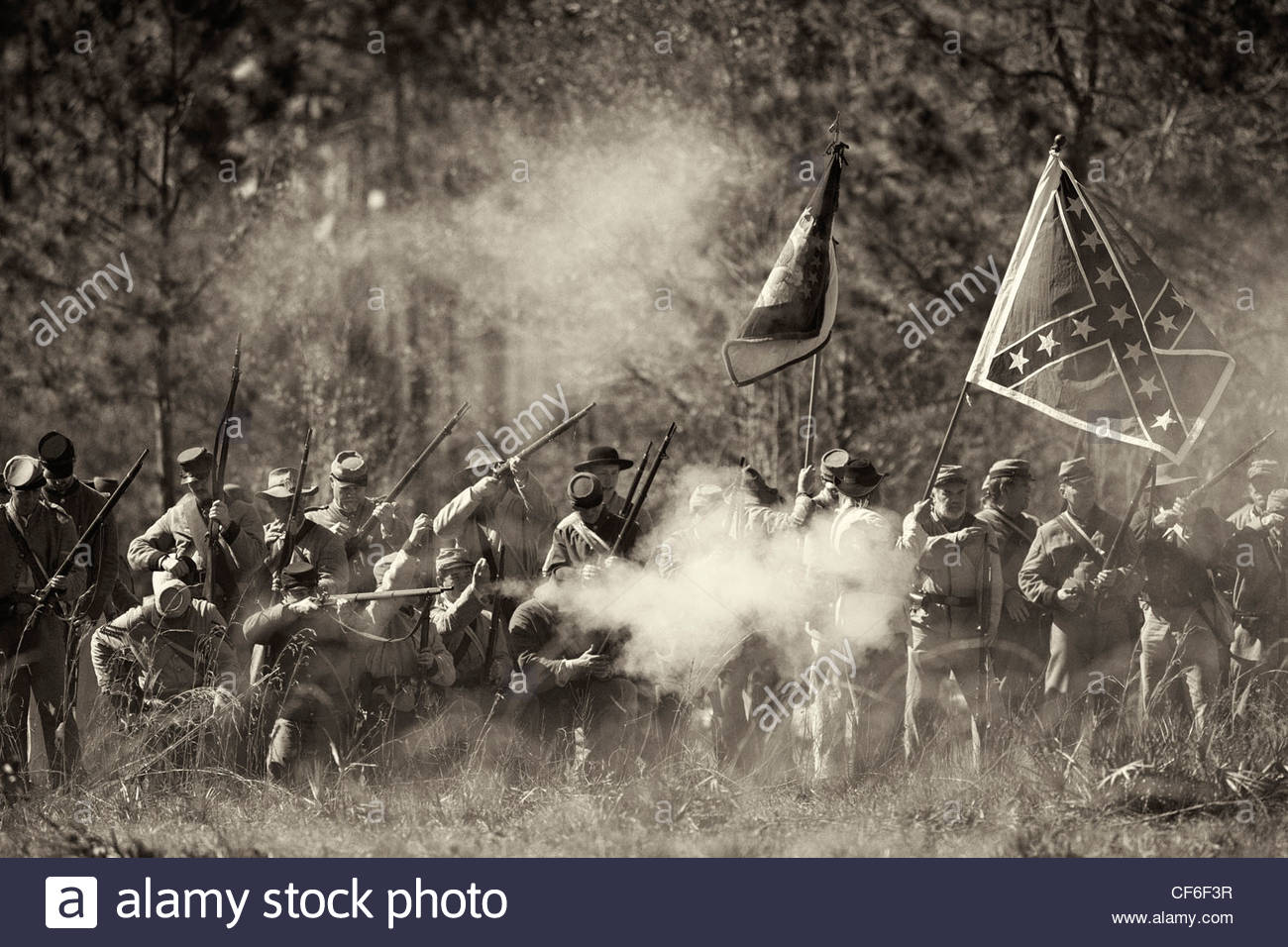 Olustee Civil War Reenactment, Olustee, Florida Stock Photo
