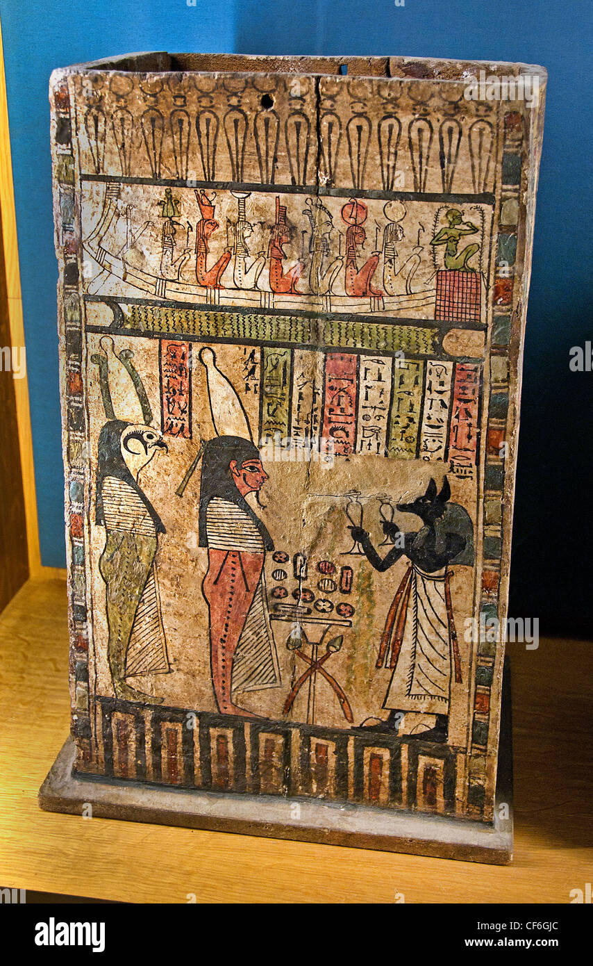 Funeral Ptolemaic Period 332-30 BC Egypt Egyptian hieroglyph - Stock Image