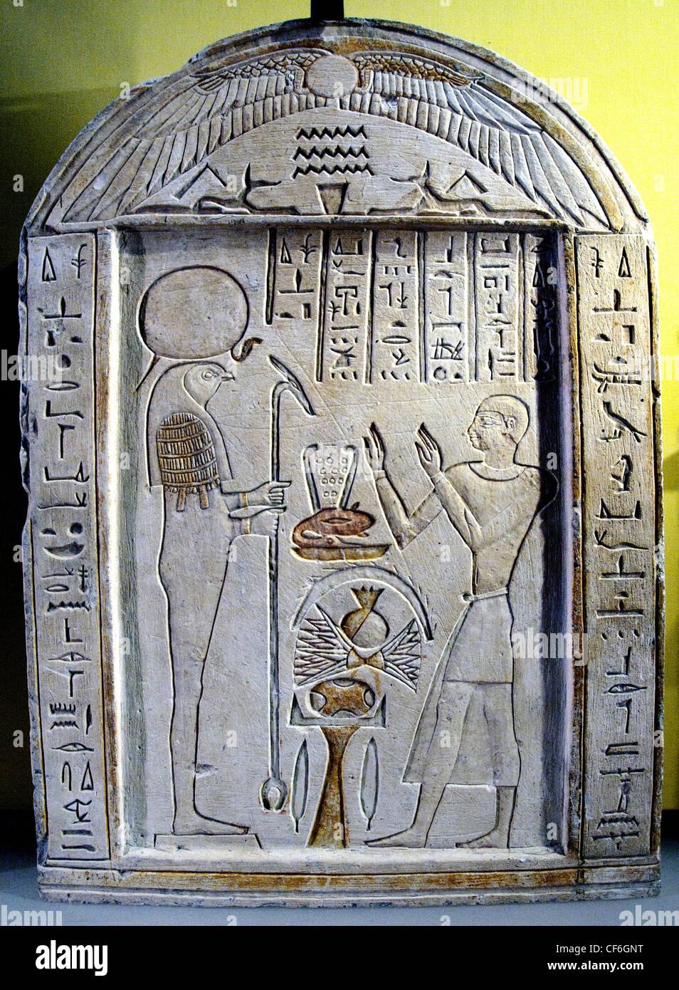 Amenirdis higher Weavers temple of Osiris worship the sun Atum Re to 650 BC 26 Dynasty Egypt Egyptian hieroglyph - Stock Image