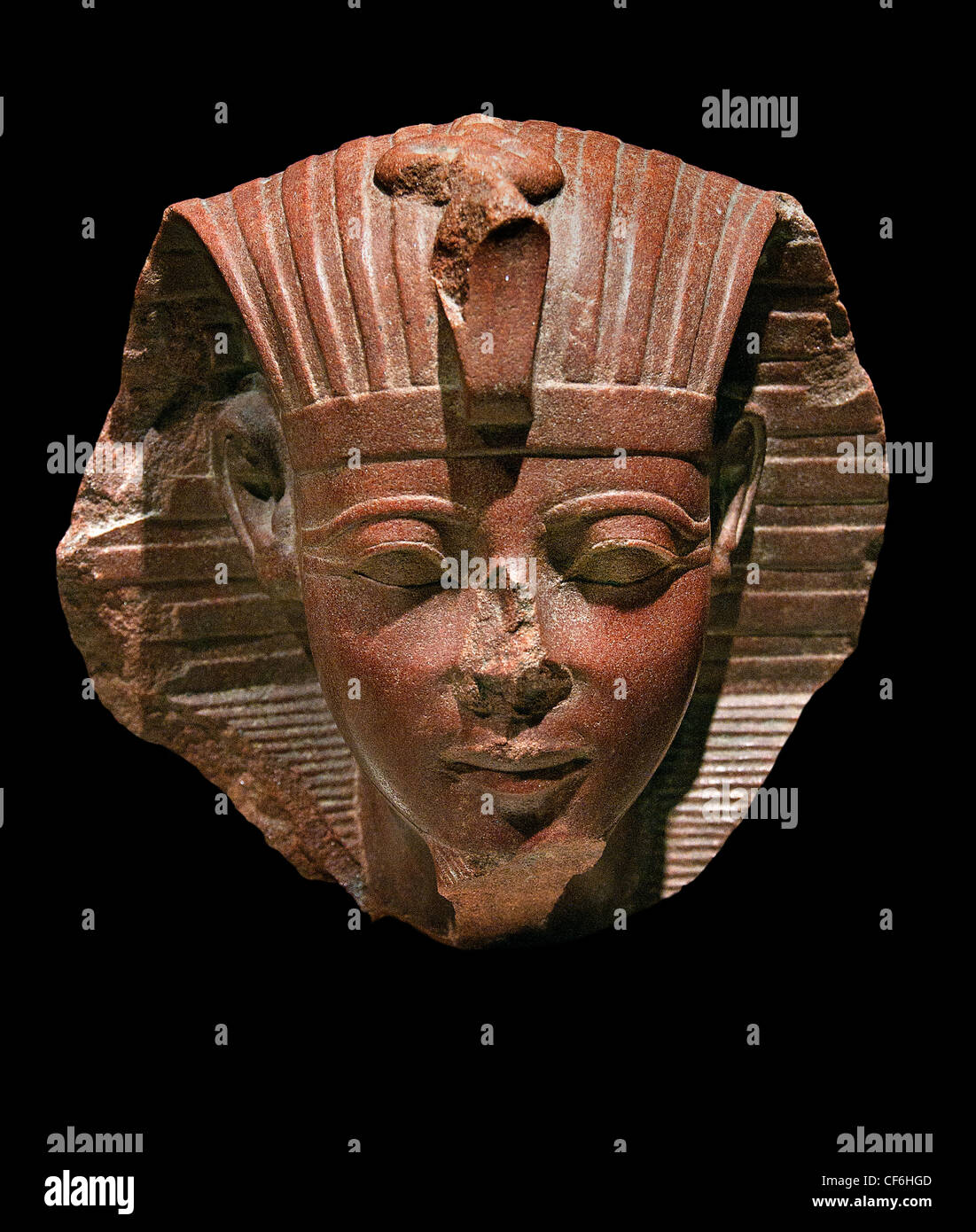 Head of the Sphinx probably King Amenophis II 1427 - 1401 BC Egypt Egyptian Stock Photo