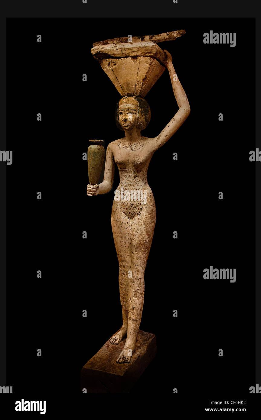 Porteuse d'offrandes Égypte Female servant 12th Dynasty 1950 BC Carrier offerings Egypt  12 Dynasty 1950 - Stock Image