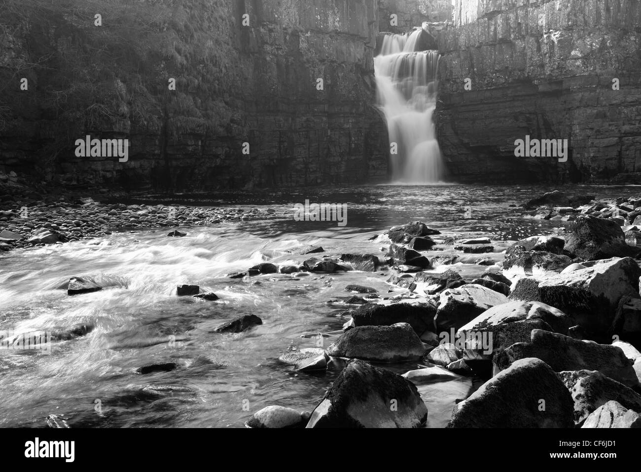 Middleton-in-Teesdale, County Durham, England. High Force, England's biggest waterfall, on the River Tees. - Stock Image