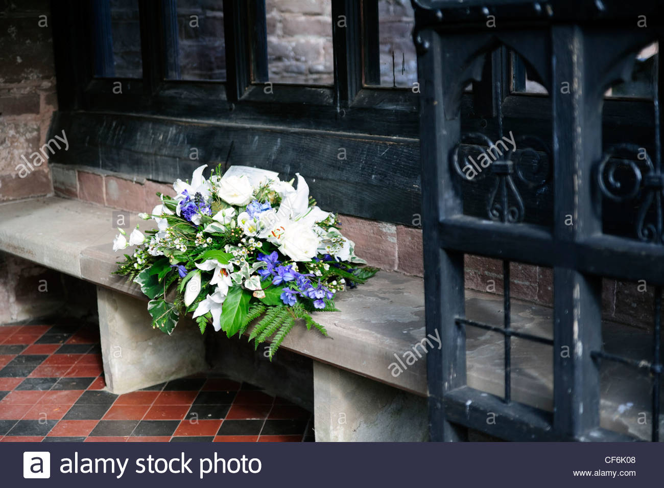 Church Flowers Porch Stock Photos Church Flowers Porch Stock