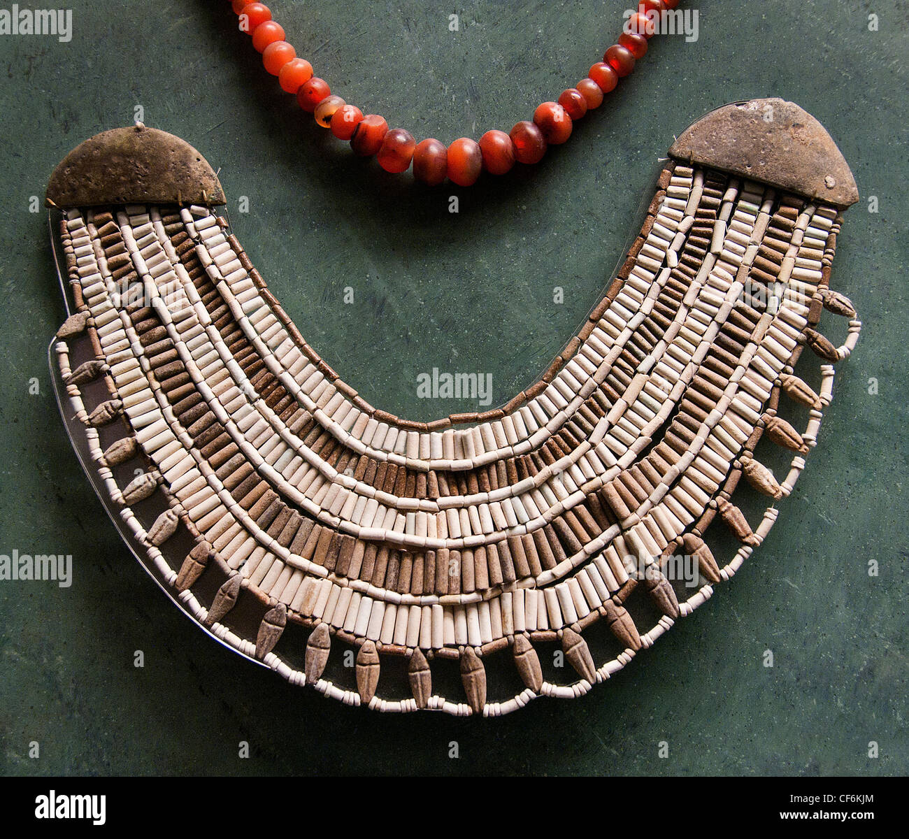 Pearl necklace  2200 BC Dara excavations Egypt Egyptian - Stock Image