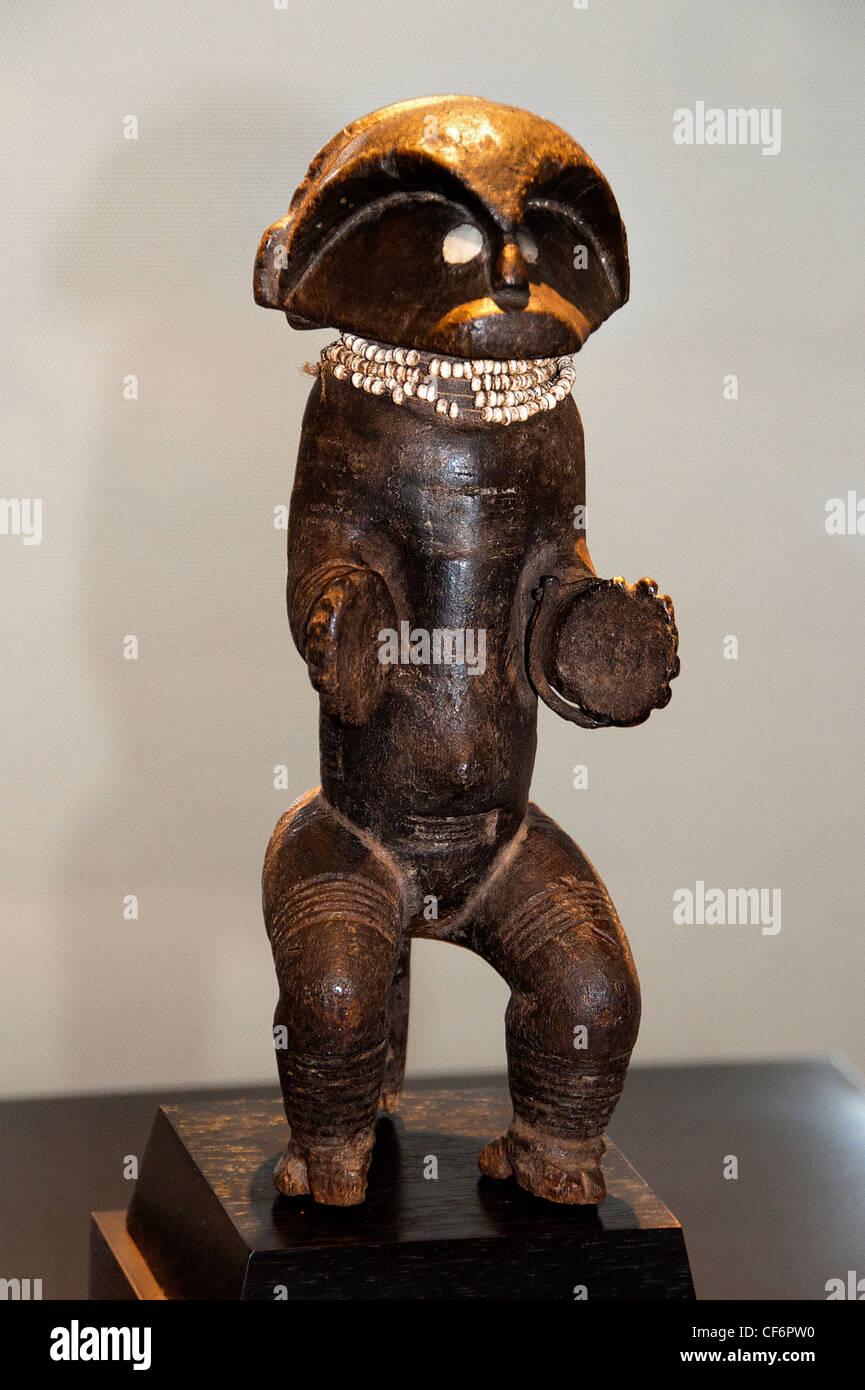 Reliquary Guardian Figure  Sanaga 19 century Cameroon Africa - Stock Image