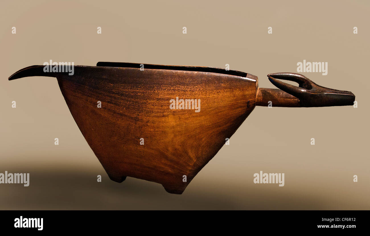 Yangere slit drum Wood 19 century Central African Republic of Congo Africa - Stock Image