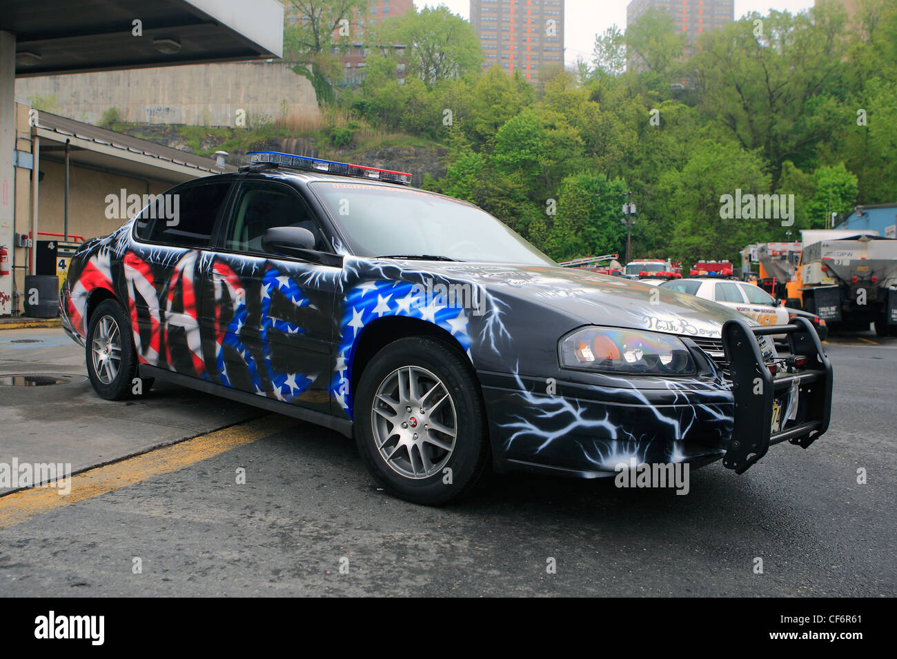 North Bergen Police Department D.A.R.E. car - Stock Image